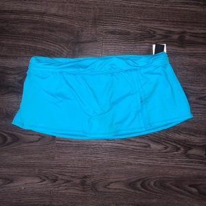 La Blanca Light Blue Swim Skirt 14 E30
